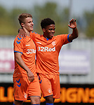 06.05.2019 Falkirk v Rangers reserves: Andy Dallas and Dapo Mebude celebrate goal no 3