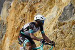 Tsgabu Grmay (ETH) Team BikeExchange climbs the final 4km of Jais Mountain during Stage 5 of the 2021 UAE Tour running 170km from Fujairah to Jebel Jais, Ras Al Khaimah, UAE. 25th February 2021.  <br /> Picture: Eoin Clarke   Cyclefile<br /> <br /> All photos usage must carry mandatory copyright credit (© Cyclefile   Eoin Clarke)