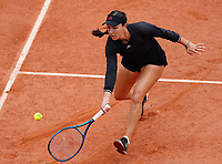 5th June 2021; Roland Garros, Paris France; French Open tennis championships day 7;  Jessica Pegula of the United States during her womens singles third round match against Sofia Kenin of the United States