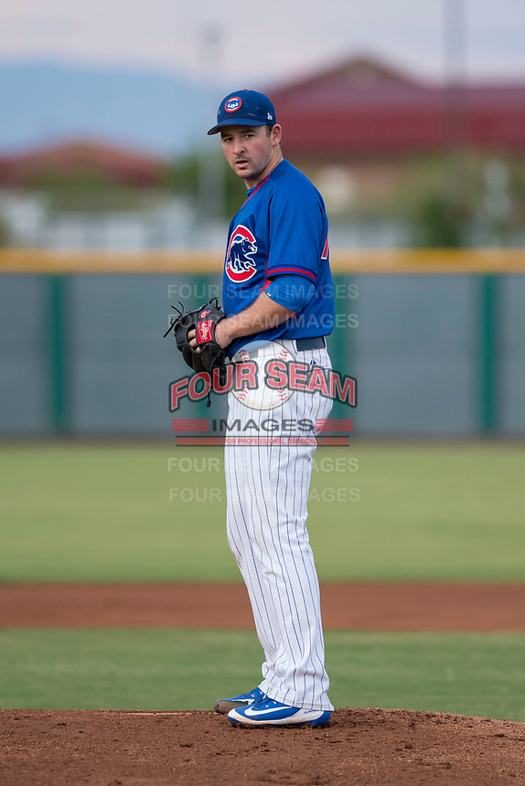 AZL Cubs 2 starting pitcher Allen Webster (78) prepares to deliver a pitch in a rehab assignment during an Arizona League game against the AZL White Sox at Sloan Park on July 13, 2018 in Mesa, Arizona. The AZL Cubs 2 defeated the AZL White Sox 6-4. (Zachary Lucy/Four Seam Images)