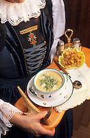 """Europe/Autriche/Tyrol/Zams: Gasthof """"Gemse"""" - Soupe au fromage de chèvre"""