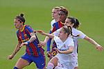 Liga IBERDROLA 2020-2021. Jornada: 18.<br /> FC Barcelona vs R. Madrid: 4-1.<br /> Jennifer Hermoso, Maite Oroz, Thaisa de Moraes & Asisat Oshoala.