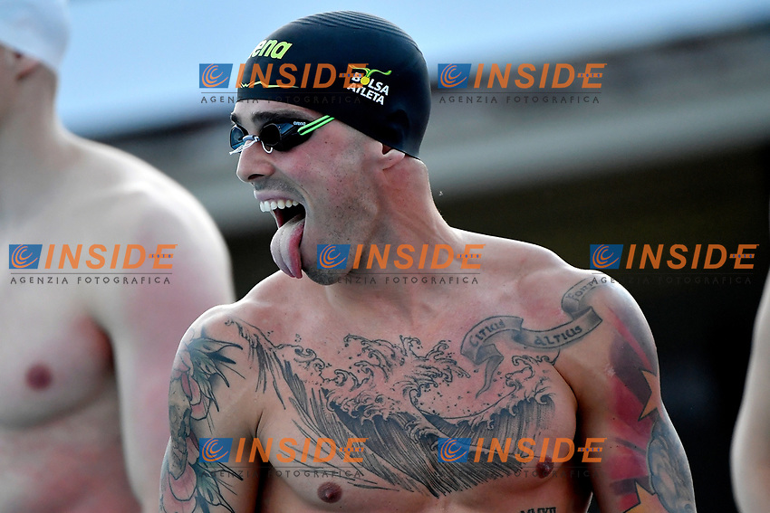 Bruno Fratus of Brazil prepares to compete in the men 50m freestyle during the 58th Sette Colli Trophy International Swimming Championships at Foro Italico in Rome, June 25th, 2021. Bruno Fratus placed first. <br /> Photo Andrea Staccioli/Insidefoto/Deepbluemedia