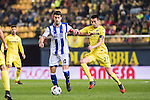 Xabier Prieto Argarate (l) of Real Sociedad competes for the ball with Bruno Soriano Llido of Villarreal CF during their Copa del Rey 2016-17 Round of 16 match between Villarreal and Real Sociedad at the Estadio El Madrigal on 11 January 2017 in Villarreal, Spain. Photo by Maria Jose Segovia Carmona / Power Sport Images