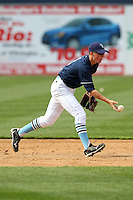 Wilmington Blue Rocks shortstop Alex McClure #8 during a game against the Lynchburg Hillcats at Frawley Stadium on May 3, 2011 in Wilmington, Delaware.  Lynchburg defeated Wilmington by the score of 11-1.  Photo By Mike Janes/Four Seam Images