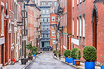 Margaret Street in the North End neighborhood, Boston, Massachusetts, USA