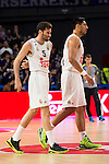 Real Madrid and Crvena Zvezda Telekom during Euroligue Basketball at Barclaycard Center in Madrid, October 22, 2015<br /> Rudy Fernandez and Gustavo Ayon.<br /> (ALTERPHOTOS/BorjaB.Hojas)