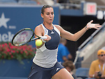 Flavia Pannetta (ITA) defeats Samantha Stosur (AUS) 6-4, 6-4 at the US Open in Flushing, NY on September 7, 2015.