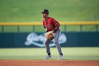 AZL D-backs second baseman Glenallen Hill Jr. (6) during an Arizona League game against the AZL Cubs 1 on July 25, 2019 at Sloan Park in Mesa, Arizona. The AZL D-backs defeated the AZL Cubs 1 3-2. (Zachary Lucy/Four Seam Images)