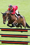 Equestrian - Showjumping - Meydan FEI Nations Cup.Pius Schwizer (SUI) aboard Carlina IV in action during the Meydan FEI Nations Cup at the Royal Dublin Society (RDS) in Dublin.