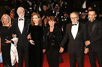 DIRECTOR MICHAEL HANEKE, ISABELLE HUPPERT, JEAN-LOUIS TRINTIGNANT AND MATHIEU KASSOVITZ - RED CARPET OF THE FILM 'HAPPY END' AT THE 70TH FESTIVAL OF CANNES 2017