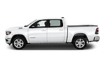 Car Driver side profile view of a 2019 Ram Ram-1500-Pickup Big-Horn-Crew-Cab-SWB 4 Door Pickup Side View