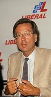 Montreal (QC)CANADA - File Photo circa 1985<br /> <br /> Liberal Provincial Leader Robert Bourassa