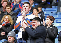 Swansea fans applaud during the Barclays Premier League match between Leicester City and Swansea City played at The King Power Stadium, Leicester on April 24th 2016
