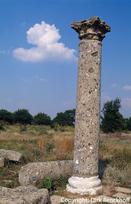 Bulgarien, Preslav, Säule des Zarenpalast, 9.Jh.