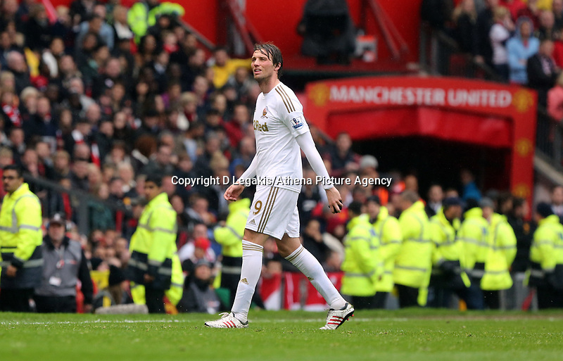 Pictured: Michu.<br /> Sunday 12 May 2013<br /> Re: Barclay's Premier League, Manchester City FC v Swansea City FC at the Old Trafford Stadium, Manchester.