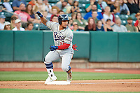 Oswaldo Arcia (31) of the Reno Aces during the game against the Salt Lake Bees in Pacific Coast League action at Smith's Ballpark on June 15, 2017 in Salt Lake City, Utah. The Aces defeated the Bees 13-5. (Stephen Smith/Four Seam Images)