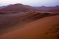 From Dune 45, Sossusvlei, at sunrise, Nambia