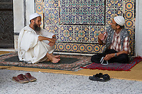 Tripoli, Libya - Men Talking before Prayers, Using Prayer Beads, Karamanli Mosque, Tripoli Medina