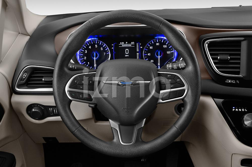 Car pictures of steering wheel view of a 2020 Chrysler Voyager LX 5 Door Minivan Steering Wheel