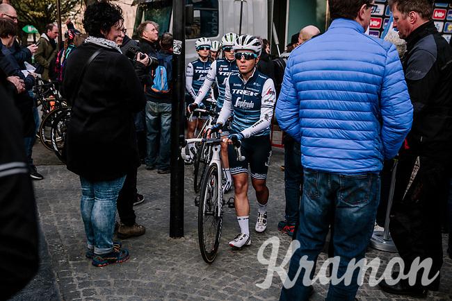 Trixi Worrack (DEU/Trek-Segafredo) off to the race start<br /> <br /> 8th Gent-Wevelgem In Flanders Fields 2019 <br /> Elite Womens Race (1.WWT)<br /> <br /> One day race from Ypres (Ieper) to Wevelgem (137km)<br /> ©JojoHarper for Kramon