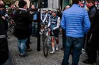 Trixi Worrack (DEU/Trek-Segafredo) off to the race start<br /> <br /> 8th Gent-Wevelgem In Flanders Fields 2019 <br /> Elite Womens Race (1.WWT)<br /> <br /> One day race from Ypres (Ieper) to Wevelgem (137km)<br /> ©JojoHarper for Kramon