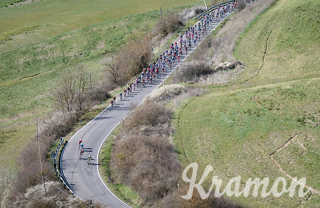 breakaway group getting caught<br /> <br /> 15th Strade Bianche 2021<br /> ME (1.UWT)<br /> 1 day race from Siena to Siena (ITA/184km)<br /> <br /> ©kramon
