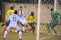 EAST RUTHERFORD, NJ - Tuesday, March 31, 2015: Argentina defeats Ecuador 2-1 in an international friendly between the two national teams near New York City at the Meadowlands, MetLife Stadium, home of the Jets and Giants.