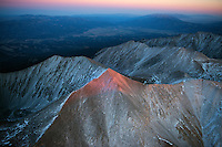 Last light on Mount Princeton, Colorado.  Oct 5, 2013