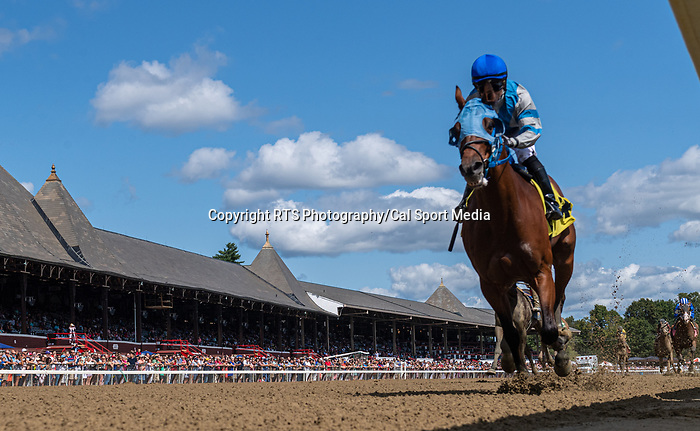 09042021:#4 Roaming Union ridden by Joel Rosario wins the 2nd race on The JOCKEY GOLD CUP day at Saratoga<br /> Robert Simmons/Eclipse Sportswire