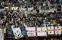 Tottenham Hotspur's supporters are seeb during their UEFA Cup quarter-final, first leg soccer match between Tottenham Hotspur and Seville at Ramon Sanchez Pizjuan stadium in Seville April 5, 2007. (INSIDE/ALTERPHOTOS/Steve Clark) Coppa Uefa Siviglia Tottenham