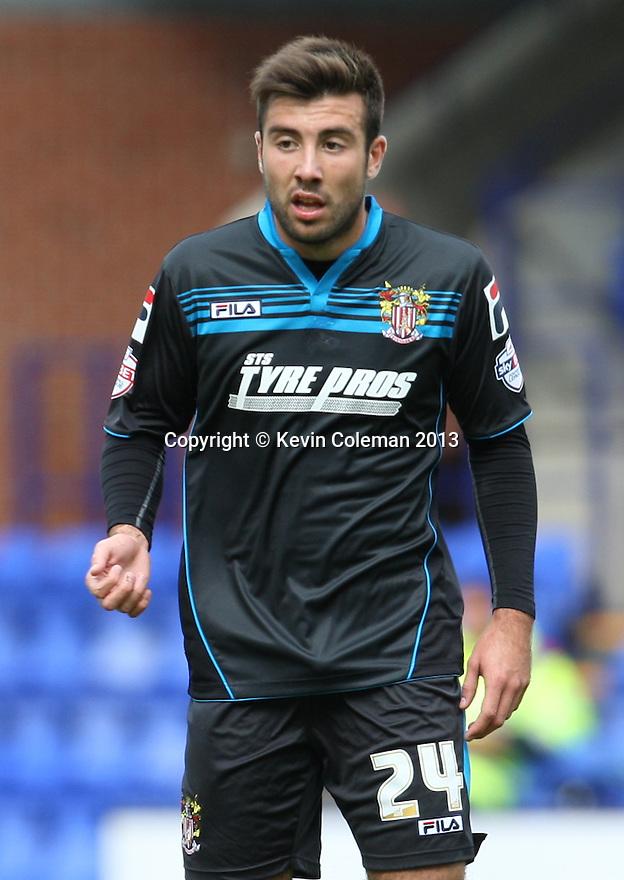 Michael Doughty of Stevenage (on loan from QPR)<br />  - Tranmere Rovers v Stevenage - Sky Bet League One - Prenton Park, Birkenhead - 7th September 2013. <br /> © Kevin Coleman 2013