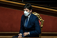 The Minister of Health Roberto Speranza during the information at the Senate about the government crisis.<br /> Rome(Italy), January 19th 2021<br /> Photo Pool Francesco Fotia/Insidefoto