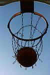 Salt Lake City, UT --3/20/08--.Men play basketball in Salt Lake City.