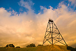 Historic Fremont Mine headframe, clouds from passing storm