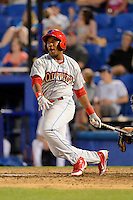 Clearwater Threshers third baseman Maikel Franco #16 during a game against the Dunedin Blue Jays at Florida Auto Exchange Stadium on April 4, 2013 in Dunedin, Florida.  Dunedin defeated Clearwater 4-2.  (Mike Janes/Four Seam Images)