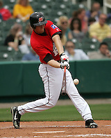Frisco Rough Riders OF Jake Blalock during the 2007 AA Texas League Season. Photo by Andrew Woolley / Four Seam Images.