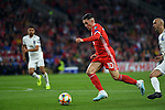Cardiff - UK - 6th September :<br />Wales v Azerbaijan European Championship 2020 qualifier at Cardiff City Stadium.<br />Harry Wilson takes the ball forward for Wales in the first half.<br /><br />Editorial use only