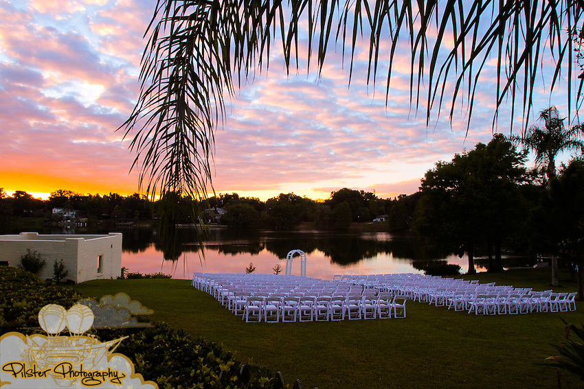 The wedding of Molly Owens and Joshua Weidenhamer on Saturday, November 13, 2010, at Molly's dad's home along Lake Formosa in Orlando, Florida. There wedding revolved around a vintage picnic theme. (John Radcliffe, PilsterPhotography.net)