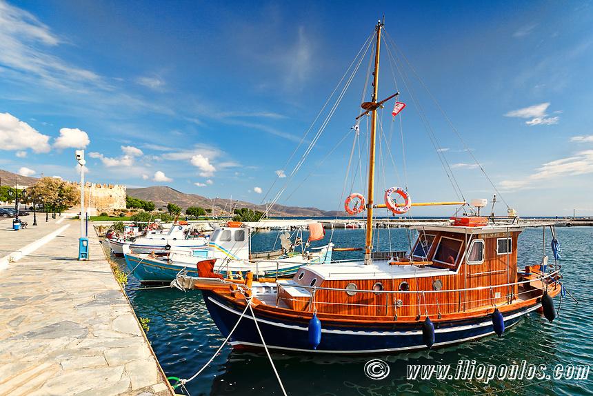 The port of Karystos in Evia, Greece