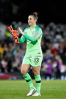 Mary Earps of England Women applauds the fans during the Women's international friendly match between England Women and Australia at Craven Cottage, London, England on 9 October 2018. Photo by Carlton Myrie / PRiME Media Images.