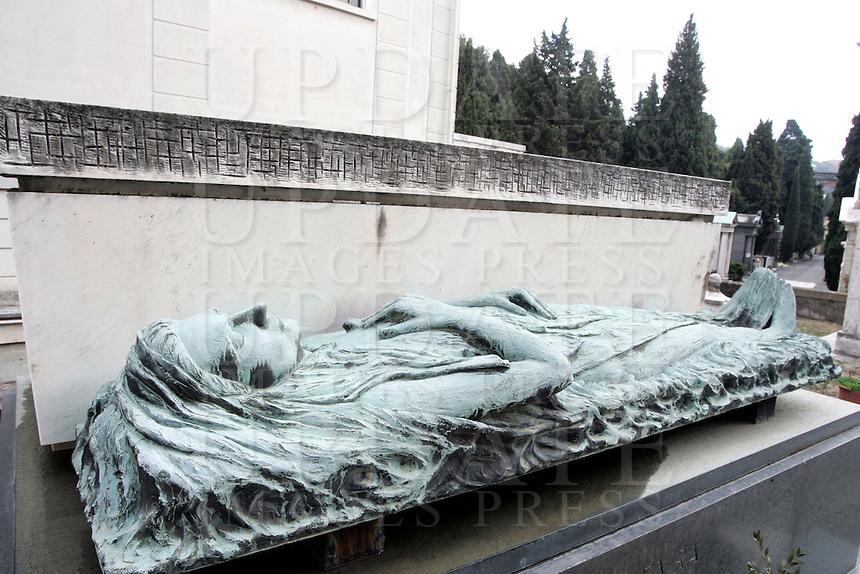 Funerary monuments in Staglieno's cemetery, Genoa.<br /> UPDATE IMAGES PRESS/Riccardo De Luca