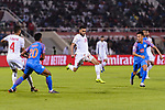 Komail Hasan Alaswad of Bahrain (C) in action during the AFC Asian Cup UAE 2019 Group A match between India (IND) and Bahrain (BHR) at Sharjah Stadium on 14 January 2019 in Sharjah, United Arab Emirates. Photo by Marcio Rodrigo Machado / Power Sport Images
