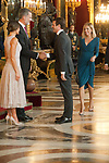 Queen Letizia of Spain, King Felipe VI of Spain, Pablo Casado and Isabel Torres attends to Sapnish National Day palace reception at the Royal Palace in Madrid, Spain. October 12, 2018. (ALTERPHOTOS/A. Perez Meca)
