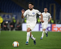 Football Soccer: UEFA Europa League round of 32 first leg AS Roma vs KAA Gent, Olympic stadium, Rome, 20 February, 2020.<br /> Gent's Milad Mohammadi in action during the Europa League football match between Roma and Gent at the Olympic stadium in Rome on 20 February, 2020.<br /> UPDATE IMAGES PRESS/Isabella Bonotto