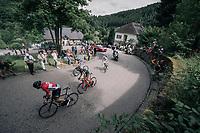 Adam Hansen (AUS/Lotto-Soudal) & co on the 3rd cat climb; the Côte d'Eschdorf (2.3km @ 9.3%)<br /> <br /> 104th Tour de France 2017<br /> Stage 3 - Verviers › Longwy (202km)