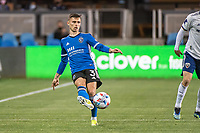 SAN JOSE, CA - MAY 01: Paul Marie #3 of the San Jose Earthquakes passes the ball during a game between San Jose Earthquakes and D.C. United at PayPal Park on May 01, 2021 in San Jose, California.
