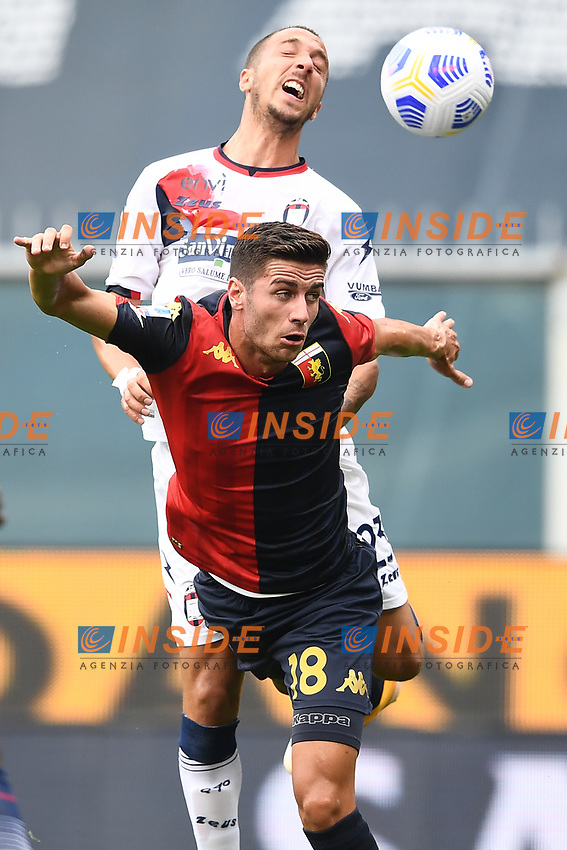 Paolo Ghiglione-Antonio Mazzotta <br /> Serie A football match between Genoa CFC and FC Crotone at Marassi Stadium in Genova (Italy), September 20th, 2020. Photo Image Sport / Insidefoto