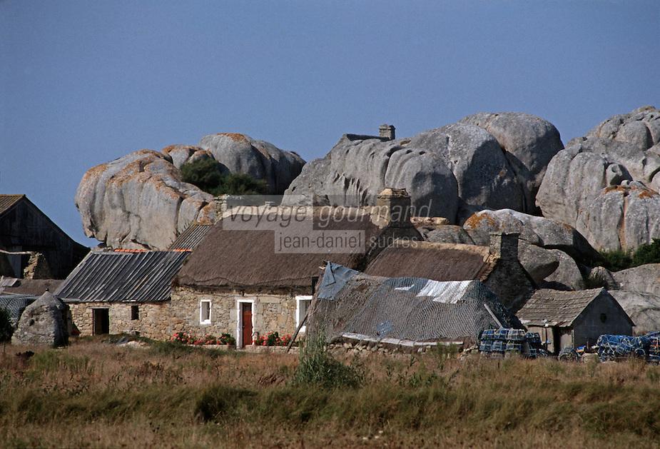 Europe/France/Bretagne/29/Finistère/Env. de Kerlouan/Ménéham:  maison de   pêcheurs