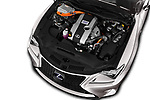 Car Stock 2017 Lexus RC F-SPORT-Line 2 Door Coupe Engine  high angle detail view